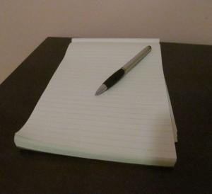 Une photo de mon propre carnet de note.
